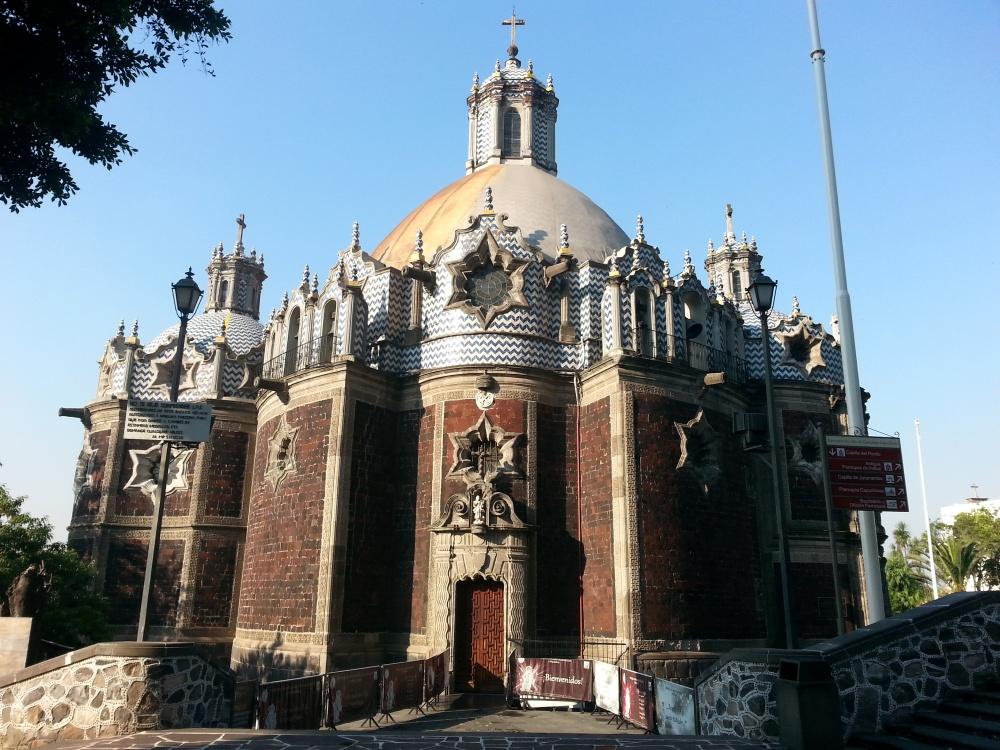 Новая базилика Девы Марии Гваделупской постройки 1974 года